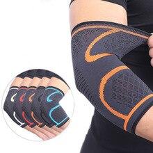 AOLIKES 1 pz supporto gomito elastico palestra Sport gomito Pad protettivo assorbire sudore Sport basket braccio manica gomito