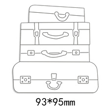 Vintage Suitcase Stack Metal Cutting Dies Stencil for DIY Scrapbooking Photo Album Embossing Paper Card Decorative