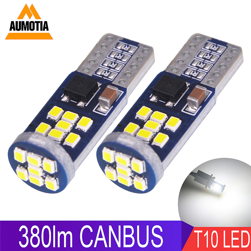 200x NEW CANBUS 350lm Super bright 2016 <font><b>smd</b></font> <font><b>T10</b></font> Car LED light W5W <font><b>18</b></font> 21 LEDs Auto Interior Side lights License Plate Lamp image