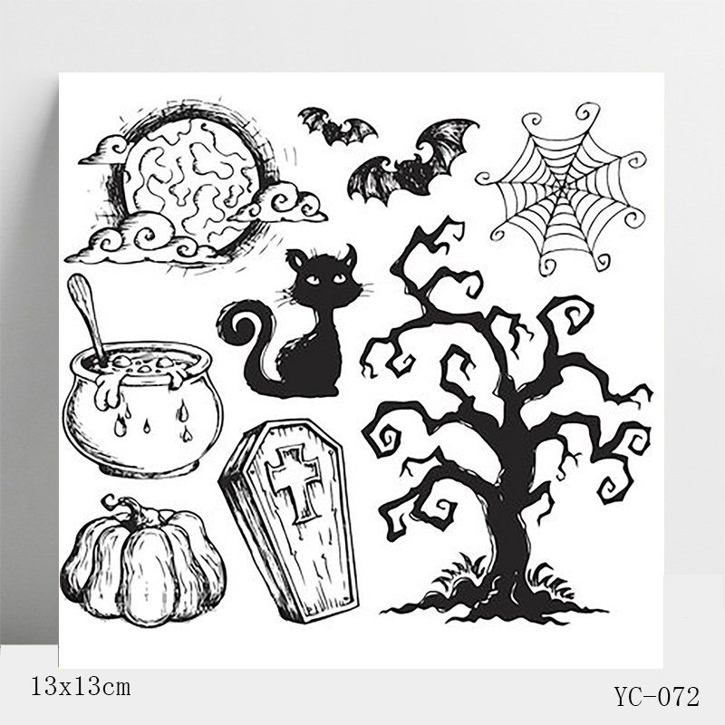 Dark magic happy Halloween Stamps Seal for DIY Scrapbooking Photo Album Decorative Card Making Clear Stamps Supplies in Stamps from Home Garden