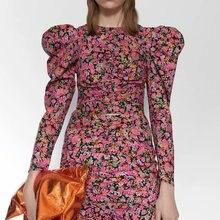 2020 new Spring Summer European Printed Poplin zaraing women blouse