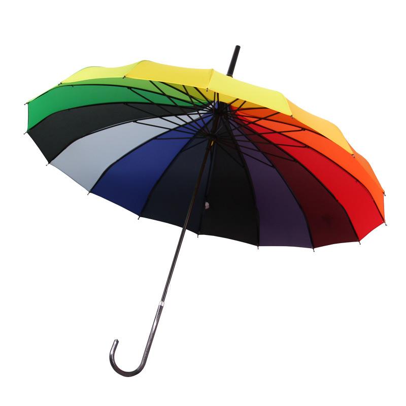 Rainbow Umbrella Pagoda 16 Bone Long Umbrella Retro Palace Creative Wind-Resistant Straight Handle Umbrella Princess Umbrella Cu