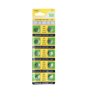 AG3 LR41 392A SR41SW 384 LR736 V3GA 192 1.55V Button Coin Cell Battery Batteries For Watch Clocks Laser Pointer Torch