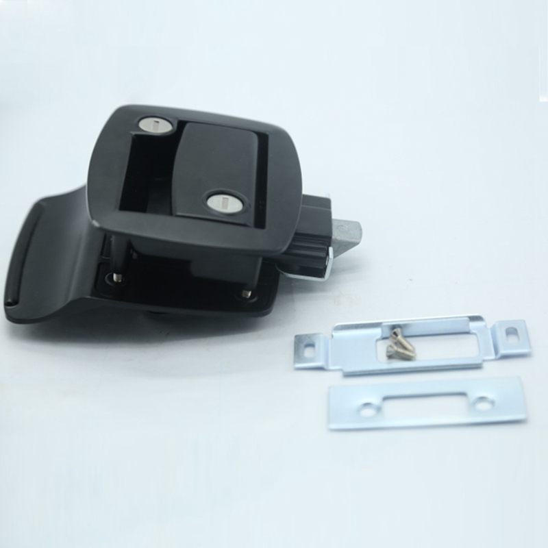 New Black RV Paddle Entry Door Lock-12