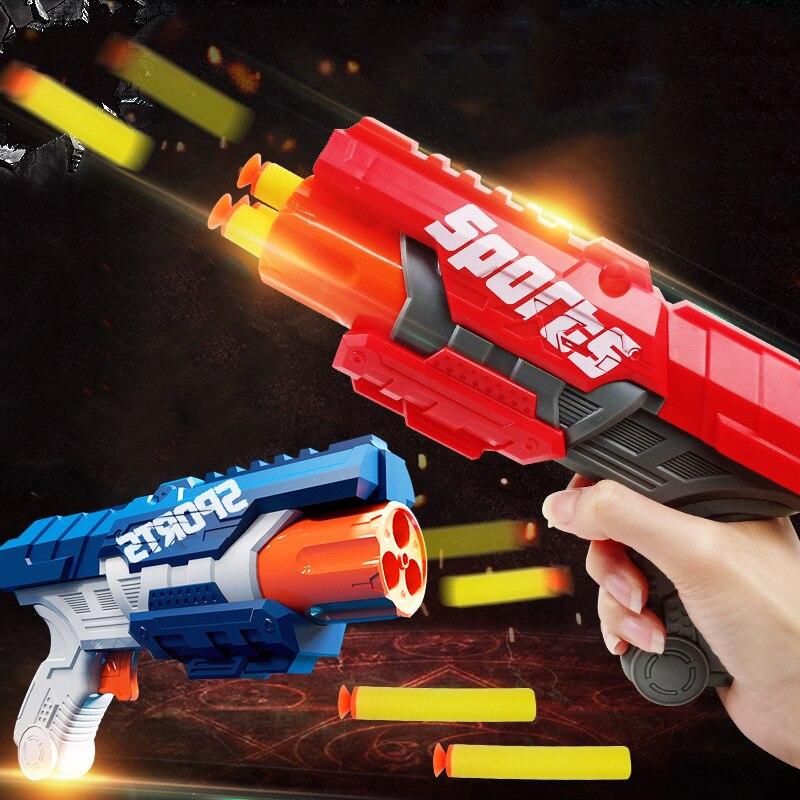 Nerf pistolets fléchettes Airsoft jouet doux trou creux tête mousse 7.2CM recharge balles balle sûre pour garçons enfants enfant jeu de plein air cadeau