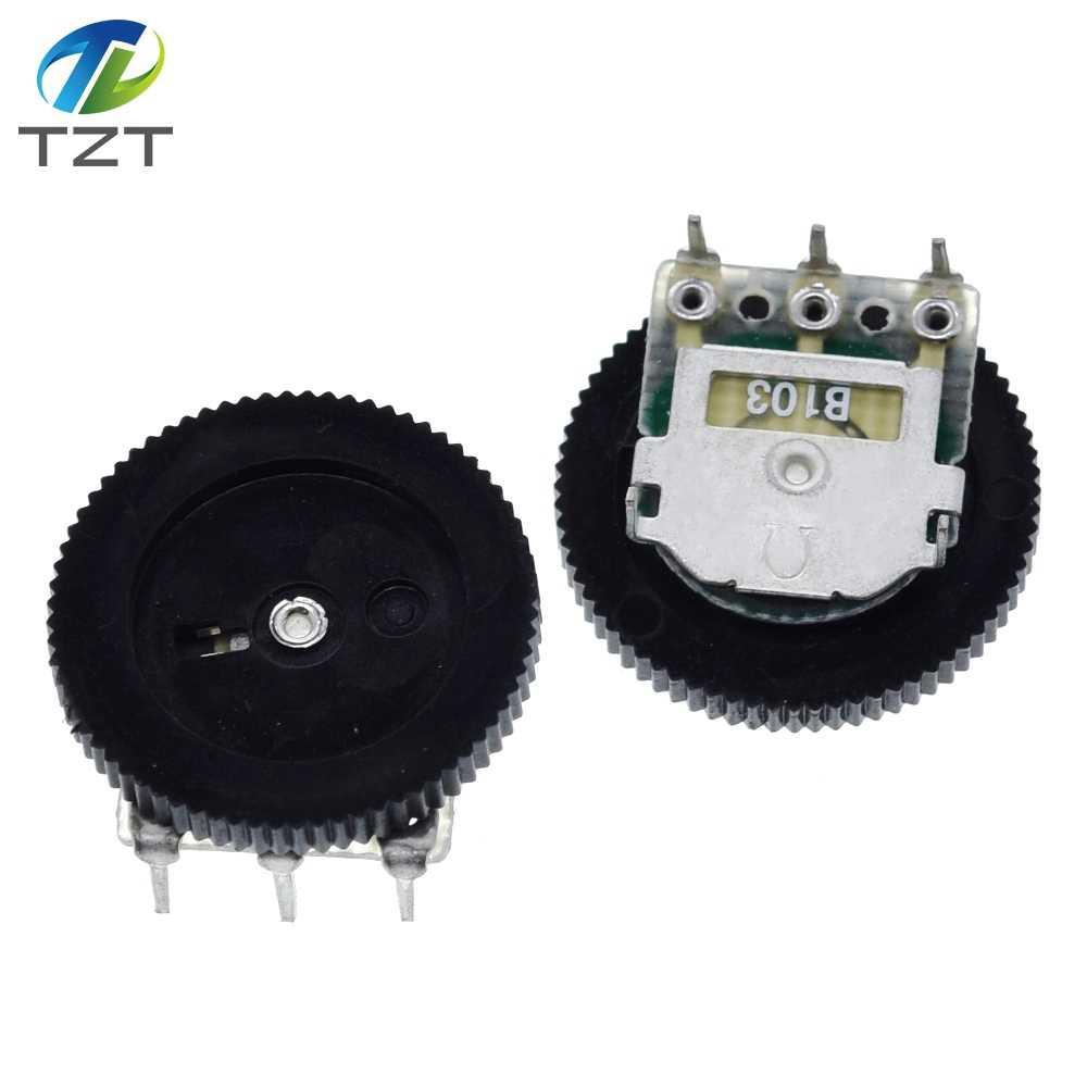 10PCS B103 16x2mm 10K Ohm Single Dial Taper Volume Wheel Single Potentiometer P0