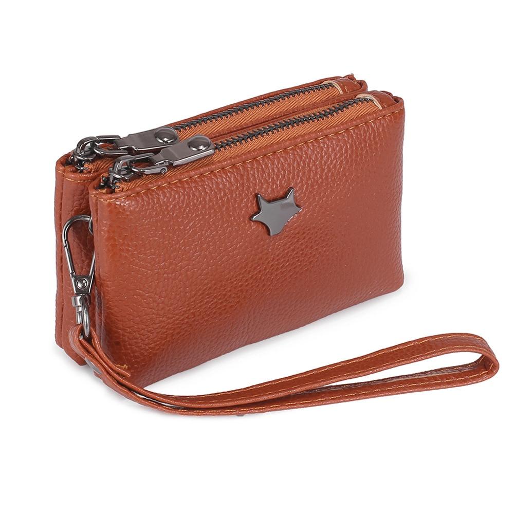 New Fashion Women Coin Purse High Quality PU Leather Female Double Zipper Travel Organizer Keys Card Cash Wallet Girl Mini Pouch