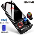 4000182097451 - Auriculares Bluetooth TWS True 5,0 auriculares inalámbricos deportivos IPX6 impermeables para teléfono con funda de carga de 6500mAh