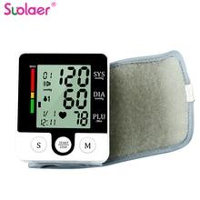 Casa lcd digital pulso sphygmomanômetro presure medidor de sangue monitor freqüência cardíaca pulso portátil tonômetro saúde equipamentos médicos