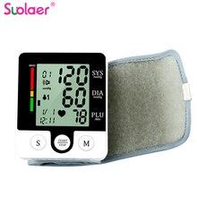 Home LCD Digital Wrist Sphygmomanometer Blood Presure Meter Monitor Heart Rate Pulse Portable Tonometer Health Medical Equipment
