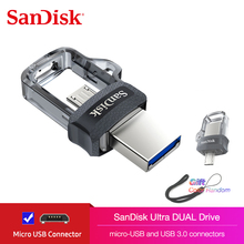 Disco 256 da vara do usb da movimentação 64gb 32gb na memória chave para o telefone de android pendrive 128gb 3.0 gb otg da pena de sandisk