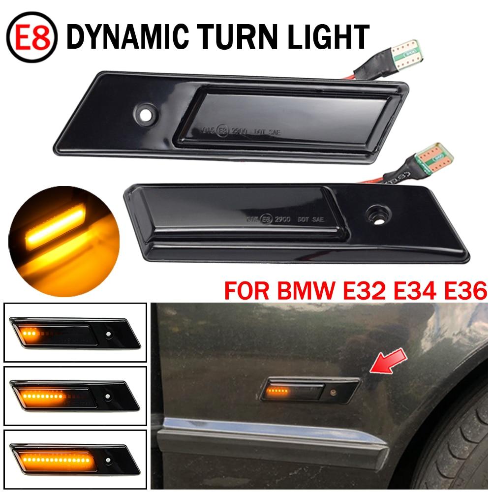 Indicador de piscamento dinâmico da luz lateral do espelho do marcador do diodo emissor de luz para bmw 3 5 7 séries e32 e34 e36 1990-1996