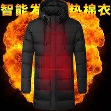 Куртки с подогревом, пальто, зимняя верхняя мужская женская жилетка, пальто, USB электрическая батарея, с длинными рукавами, теплые куртки с капюшоном куртка с подогревом жилет с подогревом одежда с подогревом жилет