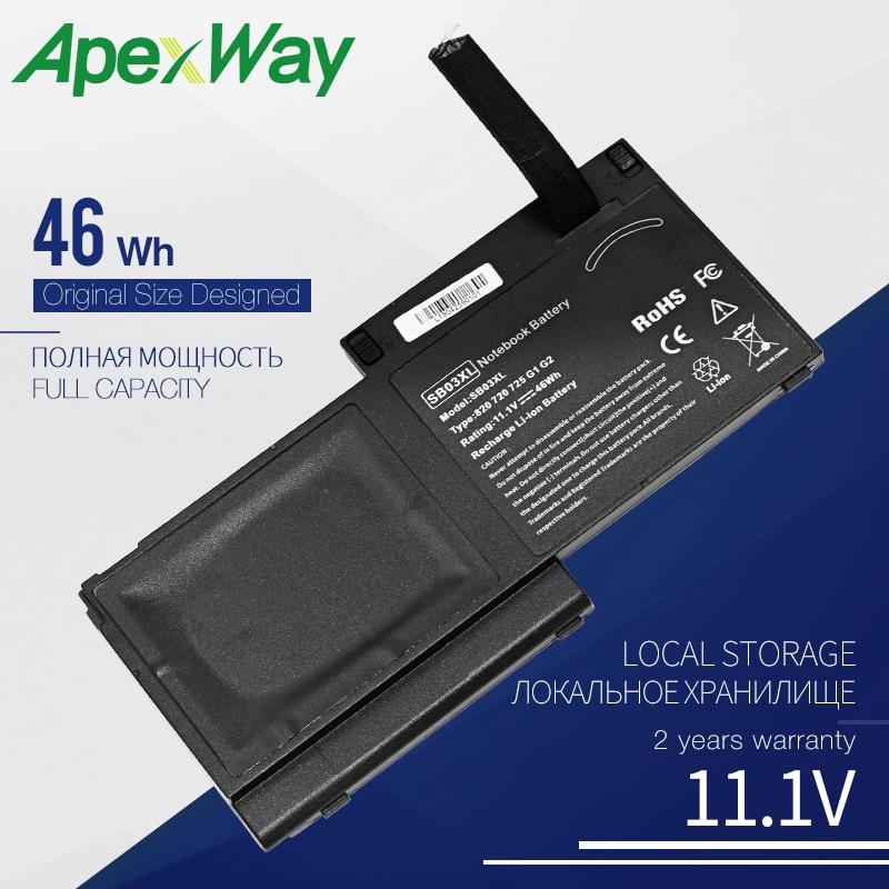 Apexway SB03XL Laptop Battery for HP EliteBook EliteBook 720 G1 716726-1C1 HSTNN-l13C 717378-001 HSTNN-LB4T E7U25AA SB03046XL