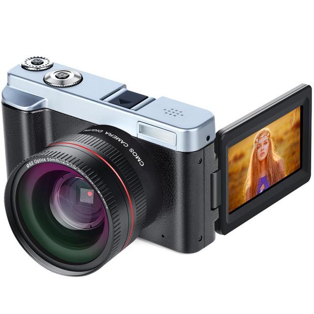 Video Camera 1080P WIFI 3.0 Inch 24 Million HD Digital Video Camera Flip Screen Camera 16X Optical Zoom Times DC102+W3 Camera