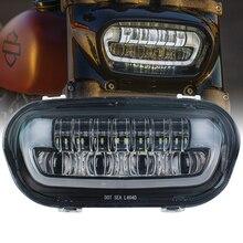 Ensemble de phares de moto, feux de Position de croisement et de faible faisceau, pour Softail Fat Bob LED, lampe à deux brûleurs