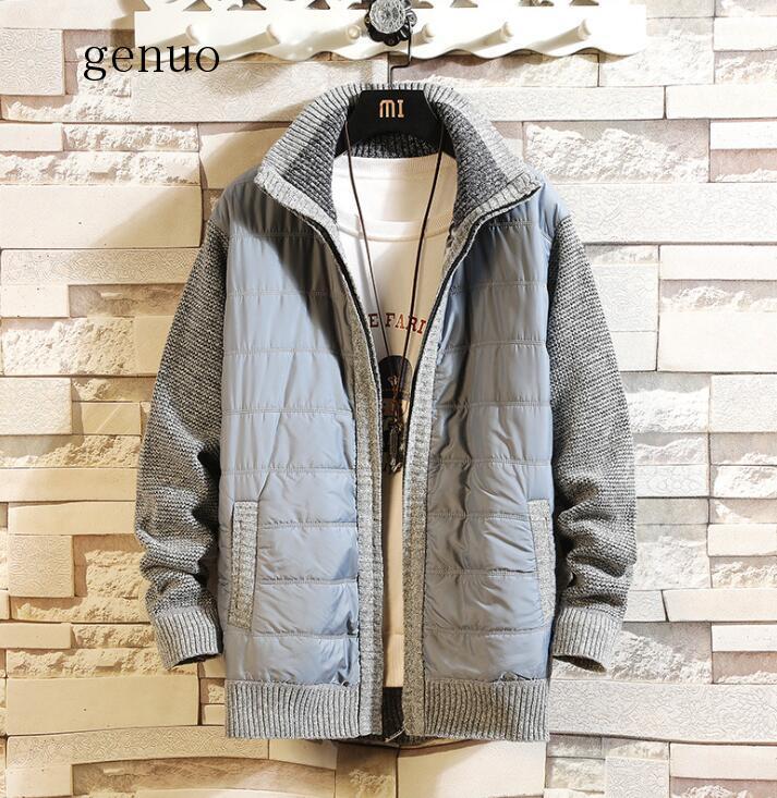 2020 New Fashion Sweater Men's Cardigan Warm Sweater Coat Sweater Coat Knitwear Zipper Winter Korean Style Casual Men Clothes