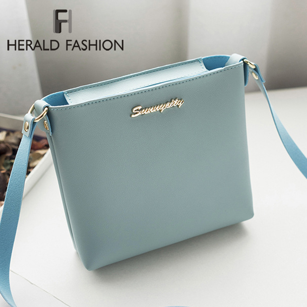 Herald Fashion Women Solid Mini Messenger Bags Ladies Flap Phone PU Leather Shoulder Bags Clutch Zipper Crossbody Bag 2019 New