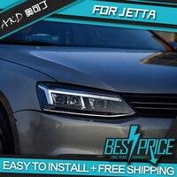 Car Styling Head Lamp case for VW Jetta Headlights 2011 2018 Jetta Mk6 LED Headlight LED DRL H7 D2H Hid Angel Eye Bi Xenon