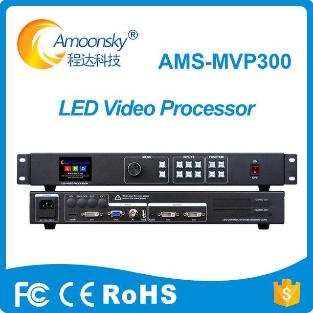 ใหม่ผลิตสี mvp300 โปรเซสเซอร์วิดีโอ scaler สนับสนุน 2 linsn ส่งการ์ดโฆษณาเชิงพาณิชย์จอแสดงผล led