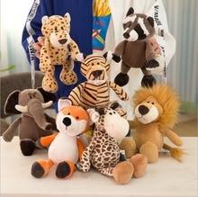 25/35cm Popular Forest Animals Stuffed Doll Plush Kids Giraffe Elephant Monkey Lion Tiger Plush Animal Toys Birthday Gifts