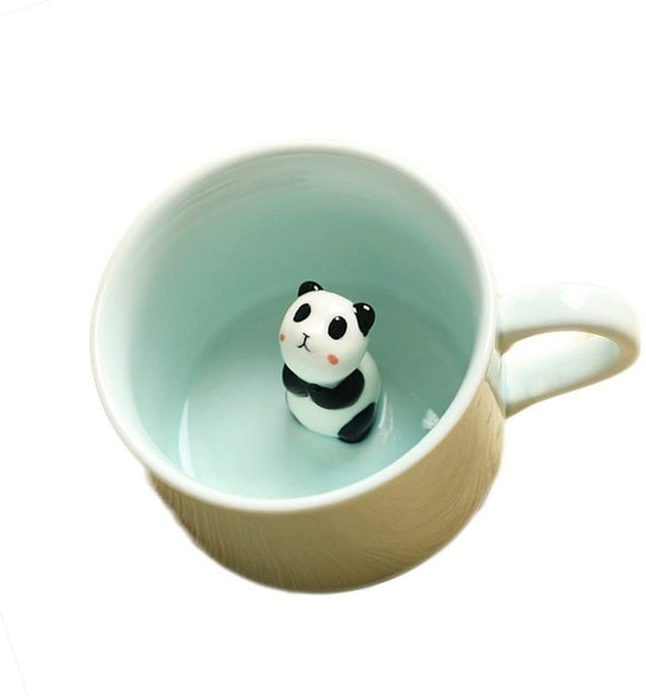 Animal Inside Mug Cartoon Animal Coffee Mug 3D Ceramics Figurine Teacup for Boys Girls Kids Women Men Small Cup 1