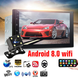7inch Car Radio 2Din Android 8.0 1+16G Multimedia Player GPS WIFI Bluetooth Player with Rear Camera for Toyota for Volkswagen