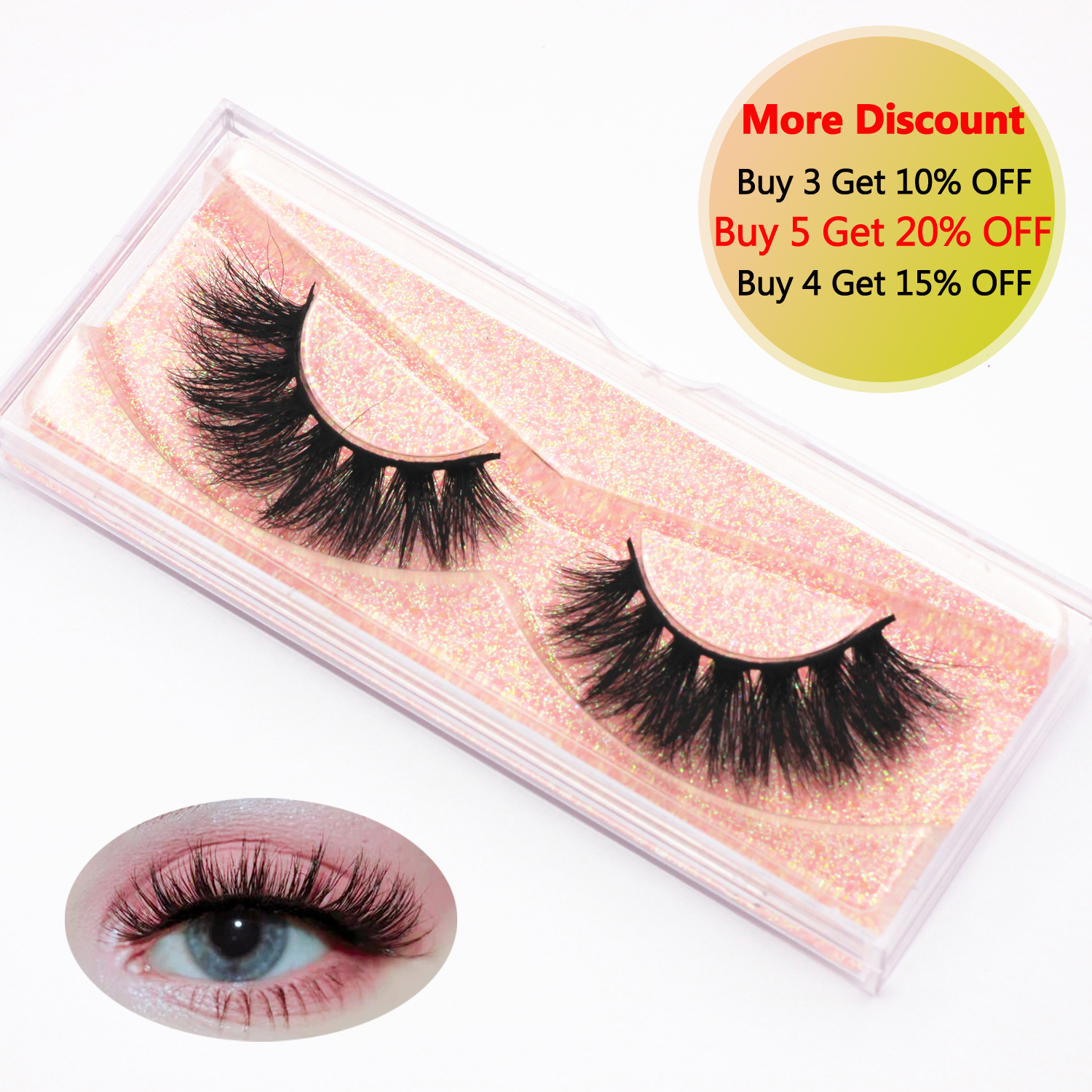 KEKEBAICHA Eyelashes Mink Lashes 3D Thick Dramatic Lashes Crisscross Soft Cute Eyelashes Cruelty Free Lashes Makeup E14 Lashes