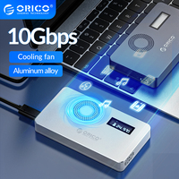 Carcasa ORICO M2 NVME SSD, SSD con pantalla Digital para llave M2 M + B Key SSD, disco USB C 10Gbps