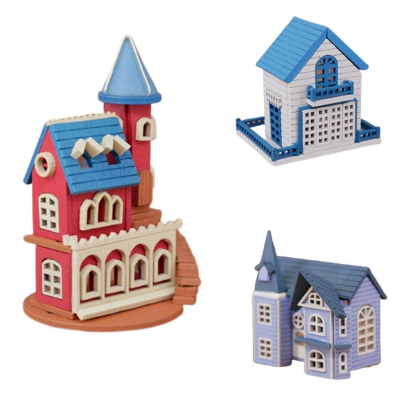 1:12 Doll House New Children's Gifts DIY Miniature 3d Wooden Miniaturas Dollhouse Toys Match All Kinds Of Mini Furniture