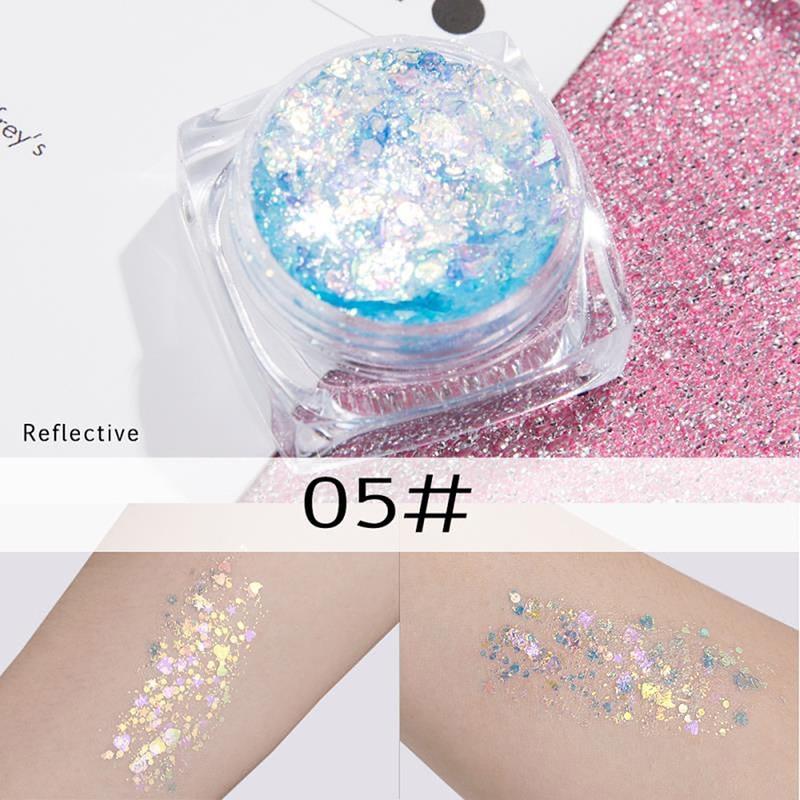 Multi-Colors Body Face Glitter Cream Star Patch Sequin Gel Cream  Fairy Dust Tears Paste Flash Drill TSLM2