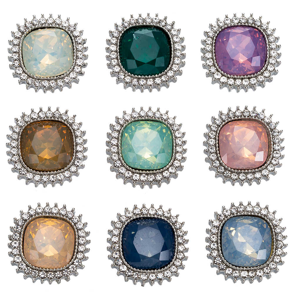 New Opal metal Snap Button Jewelry 18mm Snap Buttons fit Snap sracelet Bangles Button Jewelry TZ9236
