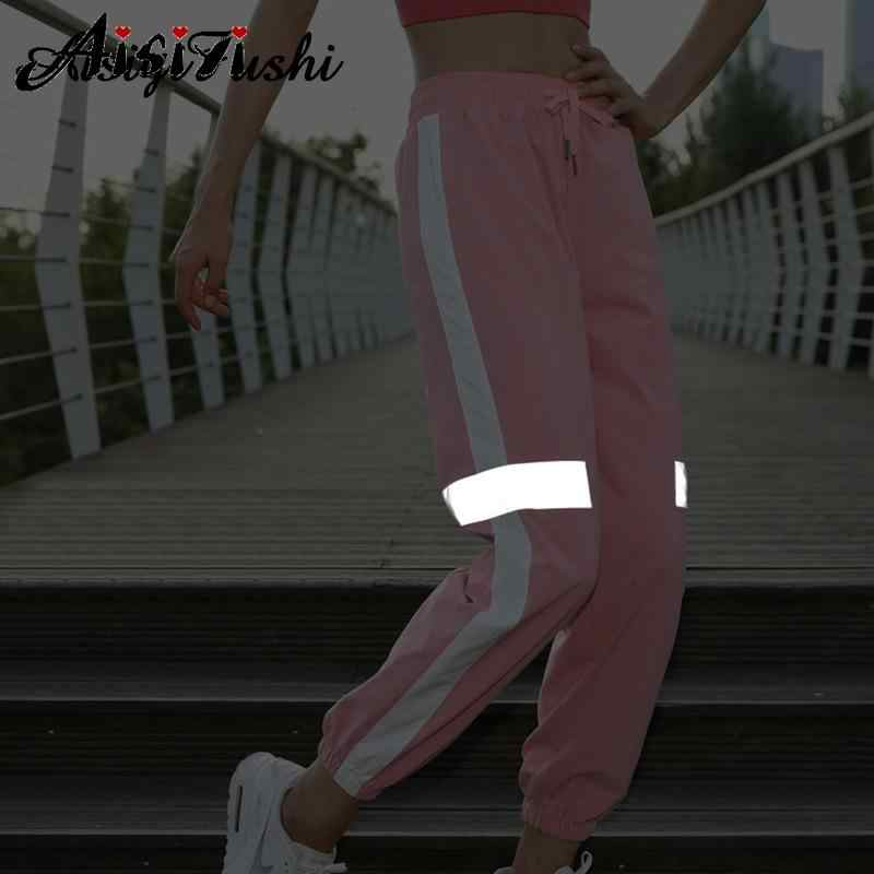 cintura el/ástica holgados AIDEAONE Pantalones de deporte para mujer con bolsillos