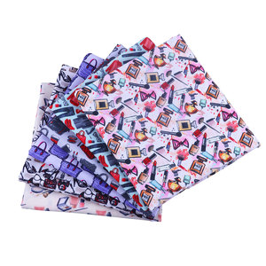 50*140CM Fashion pattern Polyester cotton Fabric Patchwor Printed for Tissue Kids Home Textile for Sewing Doll Dress Curtain