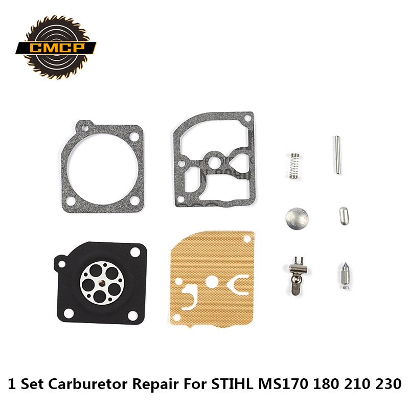 1set Carburetor Repair Kit Chainsaw Spare Parts Gasket Diaphragm For STIHL MS170 180 210 230 Chainsaw Repair Kit