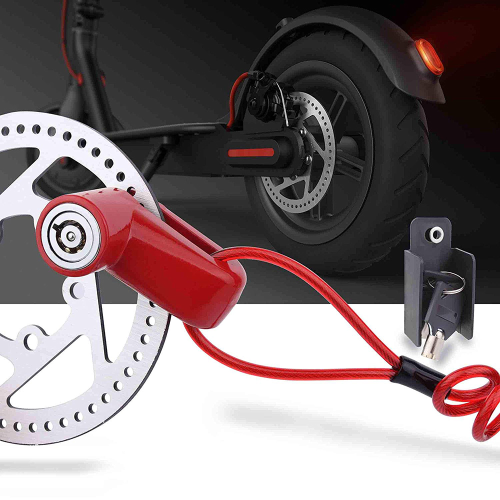 Lock Steel Wire For Xiaomi Mijia M365 Electric Scooter Durable Outdoor Riding Safety With Rope Reminder Scooter Wheels Lock