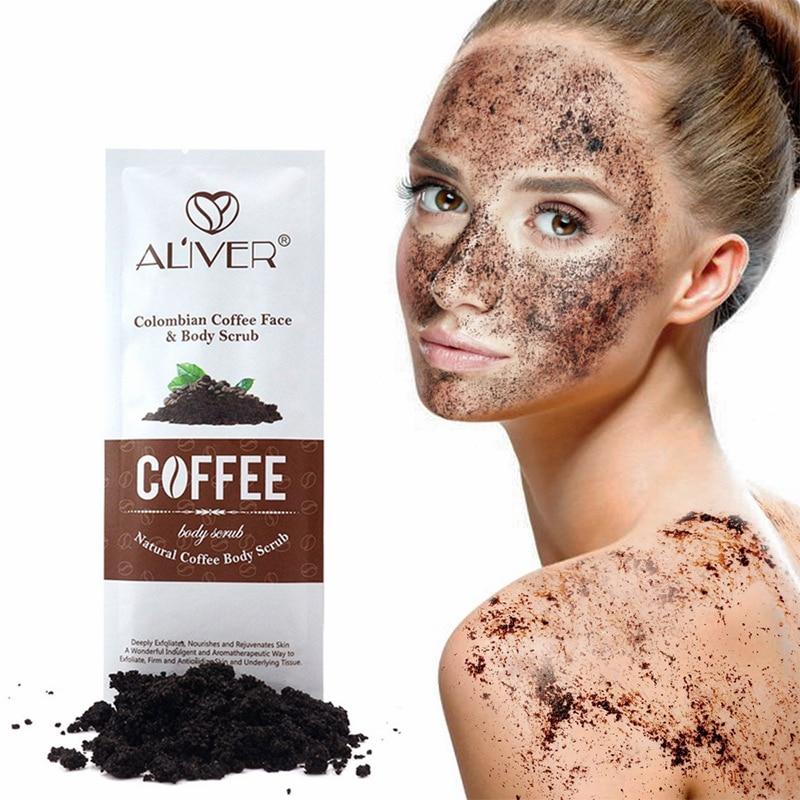 5Pcs/Bag Moisturizing Coffee Body Scrub Face Dead Skin Exfoliating Cream Acne Whitening Treatment