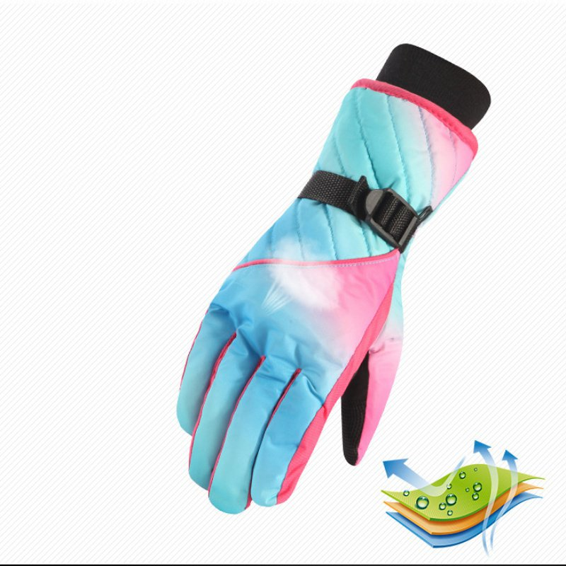 Winter Motorcycle Riding Waterproof Snow Windstopper Camping Leisure Mittens Ski Gloves Snowboard Gloves Women Men  ZH65
