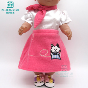 Image 5 - Accessories for doll fit 43 cm toy new born doll baby fashion Cartoon plush backpack