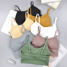 Active-Bra Backless Bralette Long-Tops Women Lingerie Seamless Sexy Cotton Padded