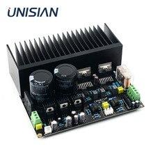 UNISIAN TDA7293 DC servo Auido Power Amplifier board 100W+100W TDA 7293 OP07 NE5534 High Power Amplifiers for Home audio system