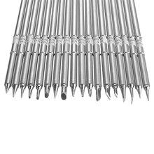 T12 серии Заменить паяльник советы для Hakko T12 ручка СВЕТОДИОДНЫЙ Переключатель Регулятор температуры FX951 FX-952 DIY наборы