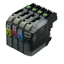4x Ink Cartridges LC111 LC 111 For Printer Compatible For Brother DCP-J552N J752N J952N-B/W MFC-J980N-B/W MFC-J980DWN-B/W Inkjet