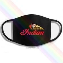 Mask Indian-Logo Motorcycle-Printing Classic Washable Cotton Black Newest