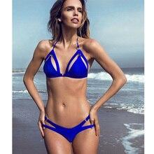 2019 New Summer Women Two Pieces Beachwear Thong Swimwear Brazilian Biquini Ladies Underwear Bra Swiming Bikini Set Bathing Suit
