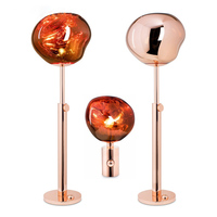Postmodern LED lamp Creative Melt Table Lamp Lights Glass Dixon Lava Irregular Desk Lights for Living Room Bedside lustre Lamp