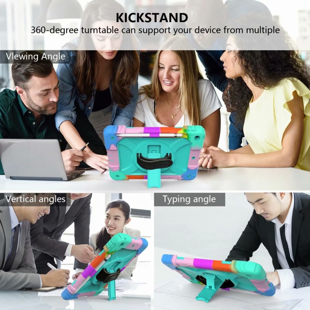 Generation For Stand Holder Rotating 360 For 7th Case Strap Cover iPad Pencil Hand iPad