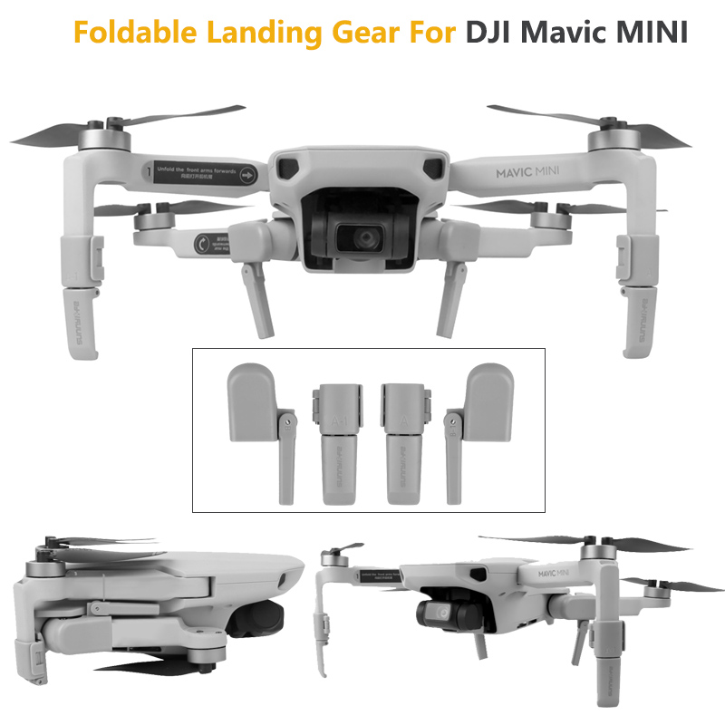 Heightening Landing Gears Foldable Support Leg Stabilizers Protector For DJI Mavic Mini Drone Accessories