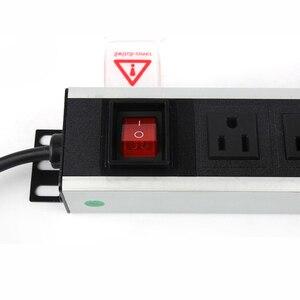 Image 3 - PDU Power Strip Surge Protector 9 Way USปลั๊กสวิทช์ป้องกันการโอเวอร์โหลดเครือข่ายตู้แร็คซ็อกเก็ตขยาย2Mสายไฟ