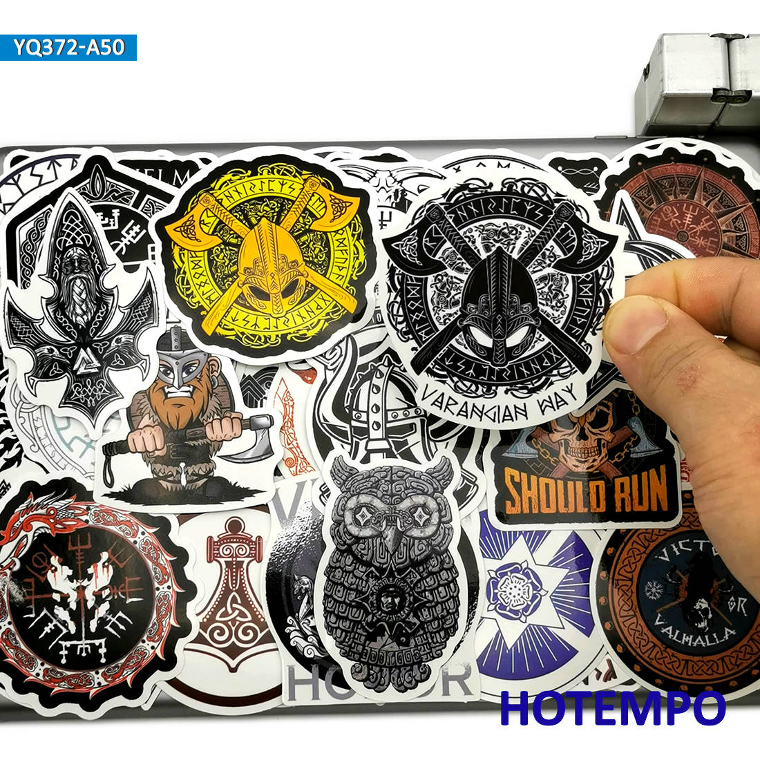 50pcs Mysterious Totem Symbol Rune Viking Pirates Style Stickers Toys For Mobile Phone Laptop Suitcase Skateboard Decal Stickers